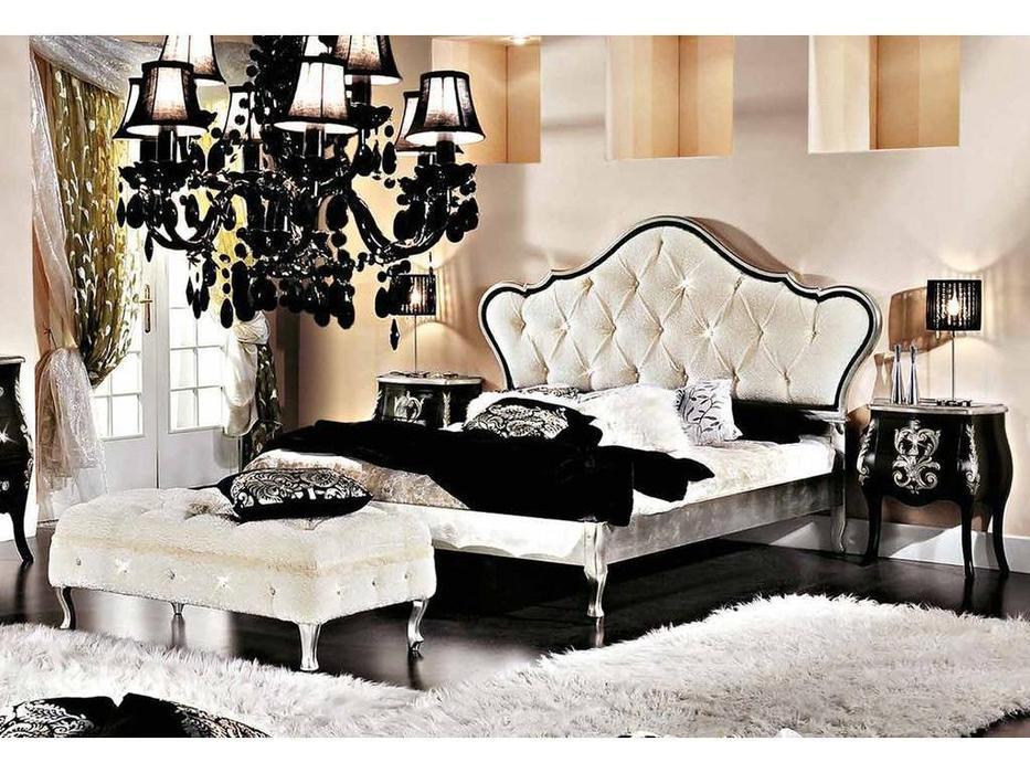 Modenese Gastone: Ducale: кровать 170х190 Дукале  (серебро с золотом)