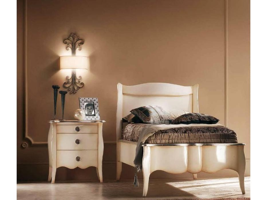 Modenese Gastone: Casanova: кровать 80х190 Казанова  (слоновая кость с патиной)