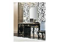 Modenese Gastone: Ducale: стол письменный Дукале  (черный с золотом)