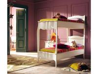 Modenese Gastone: Casanova: кровать 80х190 Казанова двухъярусная (слоновая кость с патиной)