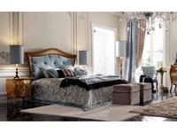 Modenese Gastone: Contemporari: кровать 160х195  (орех, ткань)