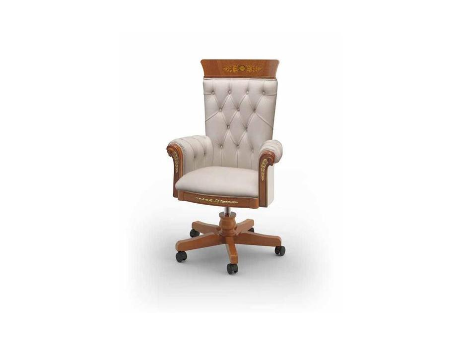 Ricaipons: President: кресло вращающееся  (olivato, кожа)