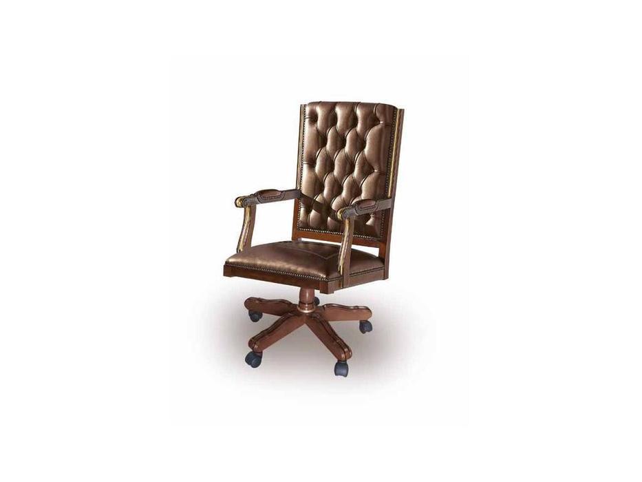 Ricaipons: Geo: кресло вращающееся  (nogal, кожа)