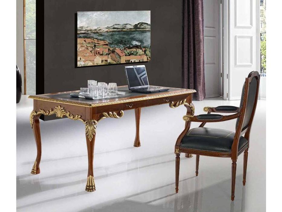 Ricaipons: Offices: стол письменный  (nogal, кожа)