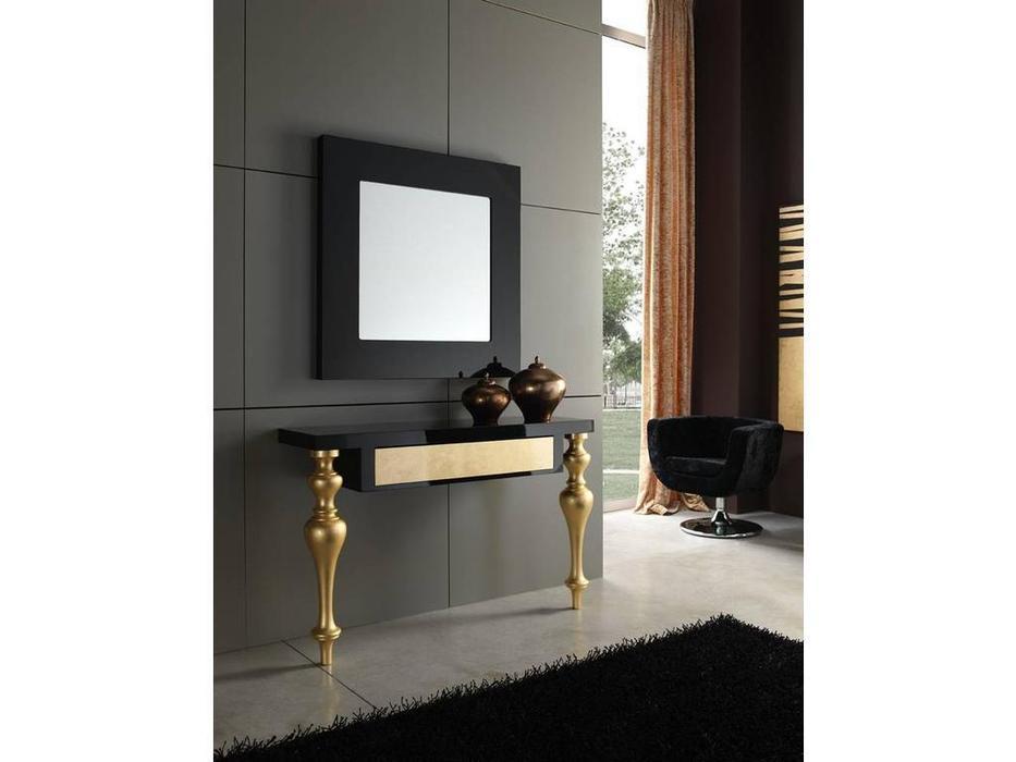 Anzadi Анзади: Retto: зеркало для прихожей  (черный)