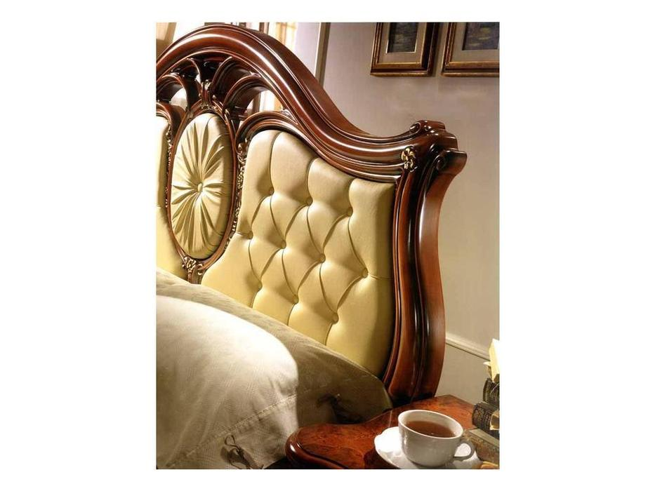 Saltarelli: Sovrana: кровать 160х200 кожа  (орех)