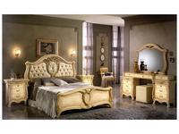 Saltarelli: Sovrana: кровать 160х200 кожа  (слоновая кость)