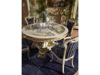 Moblesa: Gold: стол обеденный со стеклянными вставками