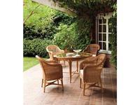 Point Поинт: Alga: стол садовый обеденный со стеклом  (tostado 03)