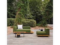 Point: Pal: диван  садовый (ткань, натуральное дерево)