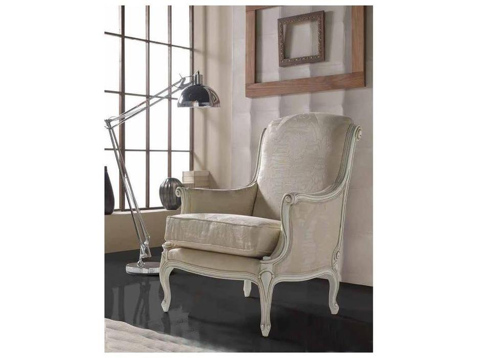 Genoveva: Aurum: кресло  ткань (слоновая кость)