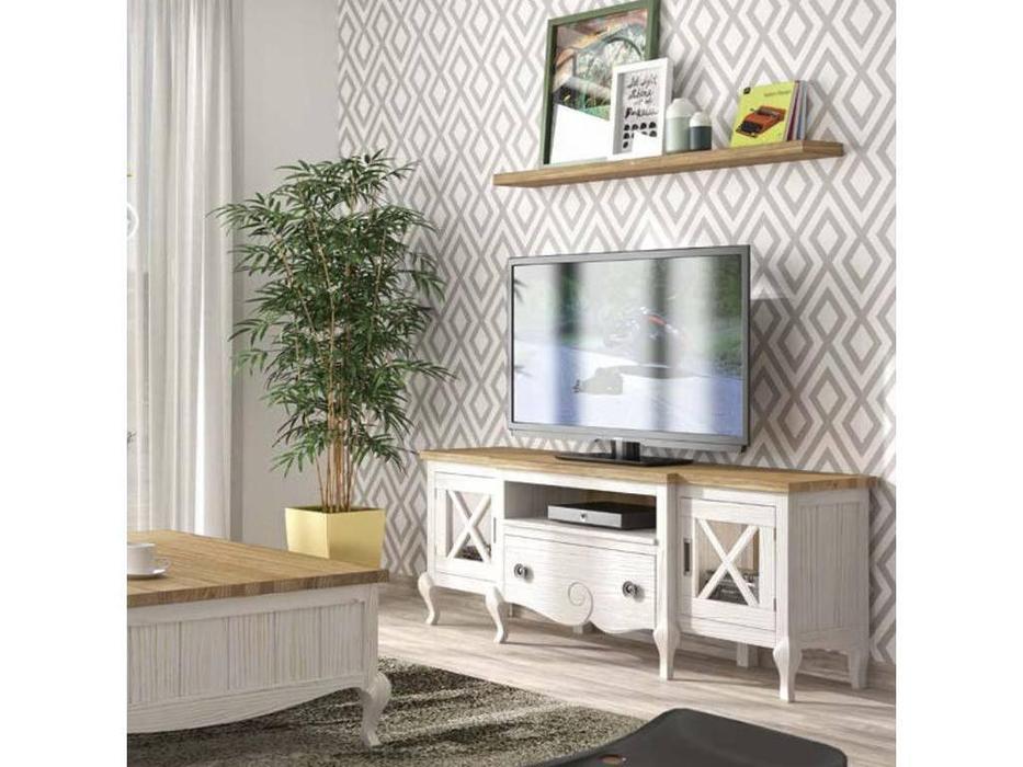 Grupo Seys: Volga: тумба под телевизор  (blanco albo, valsain patinado)