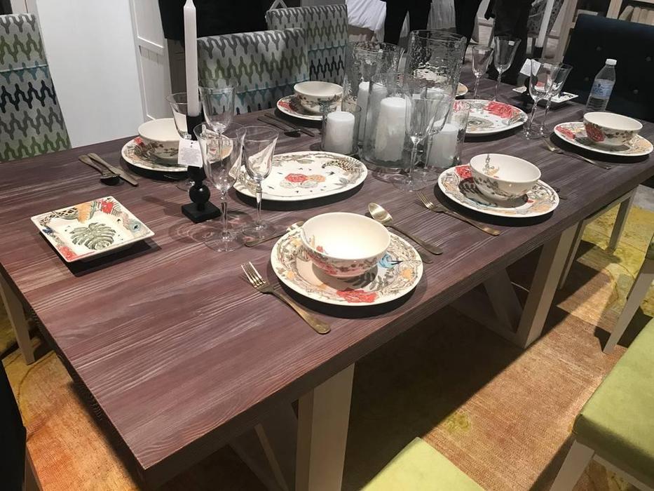 Grupo Seys: Basilea: стол обеденный  Alboran (blanco albo, valsain patinado)