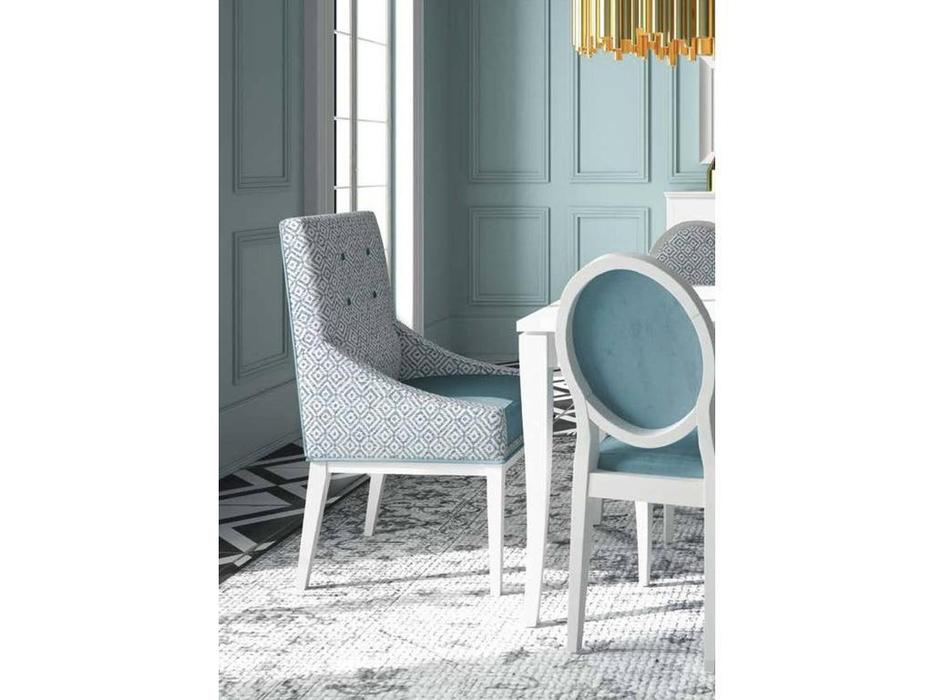 Grupo Seys: Basilea: полукресло  Diana (blanco albo) ткань