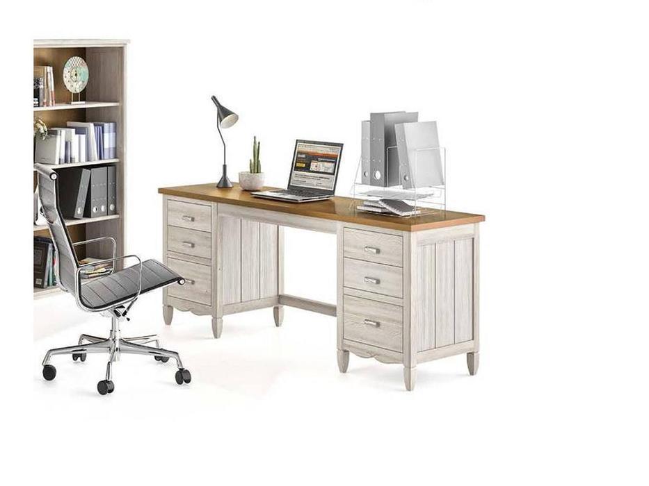 Grupo Seys: Amberes: стол письменный  (blanco pluma, tabaco)