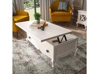 Grupo Seys: Volga: стол журнальный  трансформер (blanco decape)