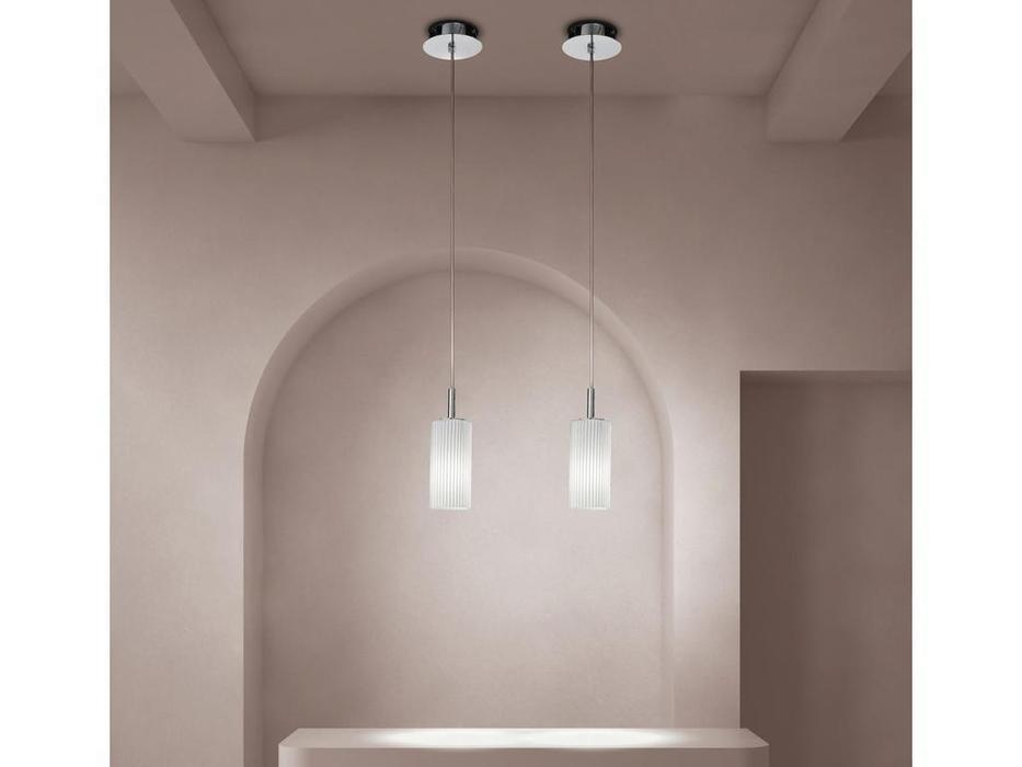 Sylcom: Korinthos: подвесной светильник  (хром, хрусталь)