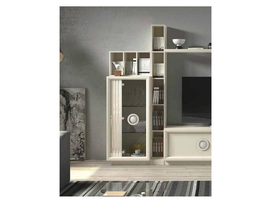 Monrabal Chirivella: Anabel: витрина 1 дверная  низкая левая (lacado lino)