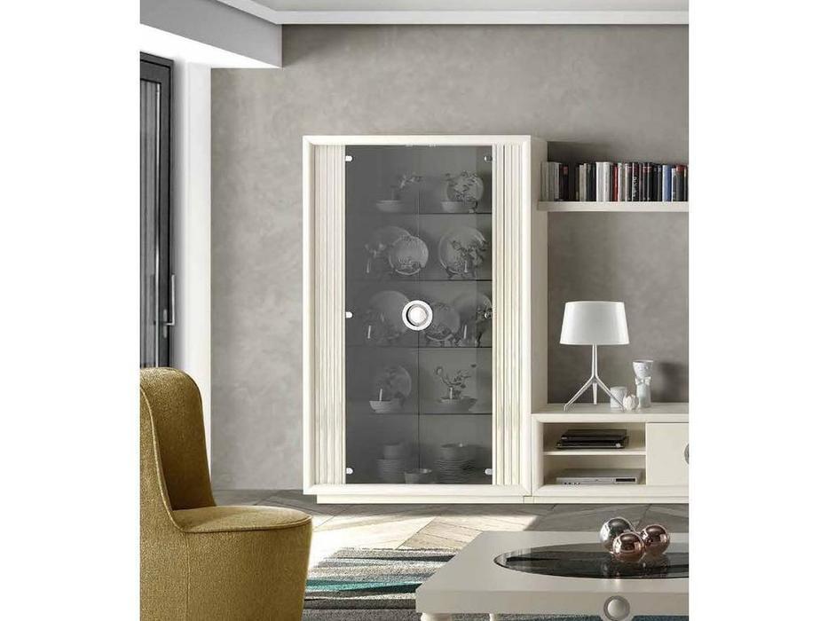 Monrabal Chirivella: Anabel: витрина 2-х дверная  (lacado lino)