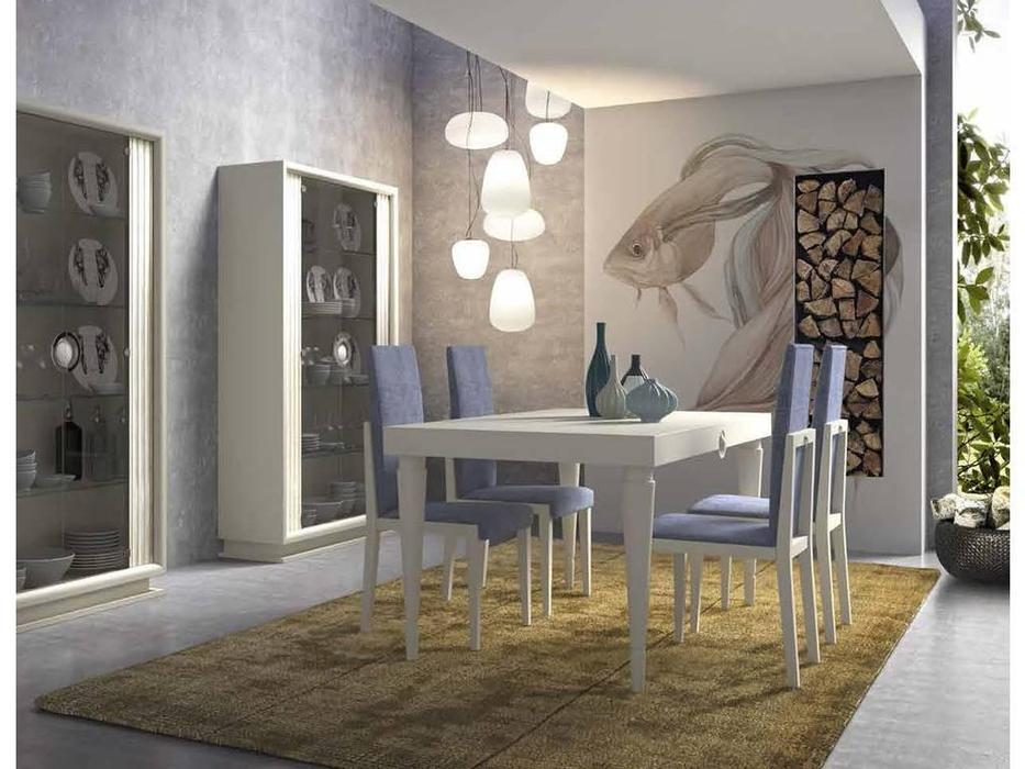 Monrabal Chirivella: Anabel: стол обеденный 180см раскладной  (lacado lino)