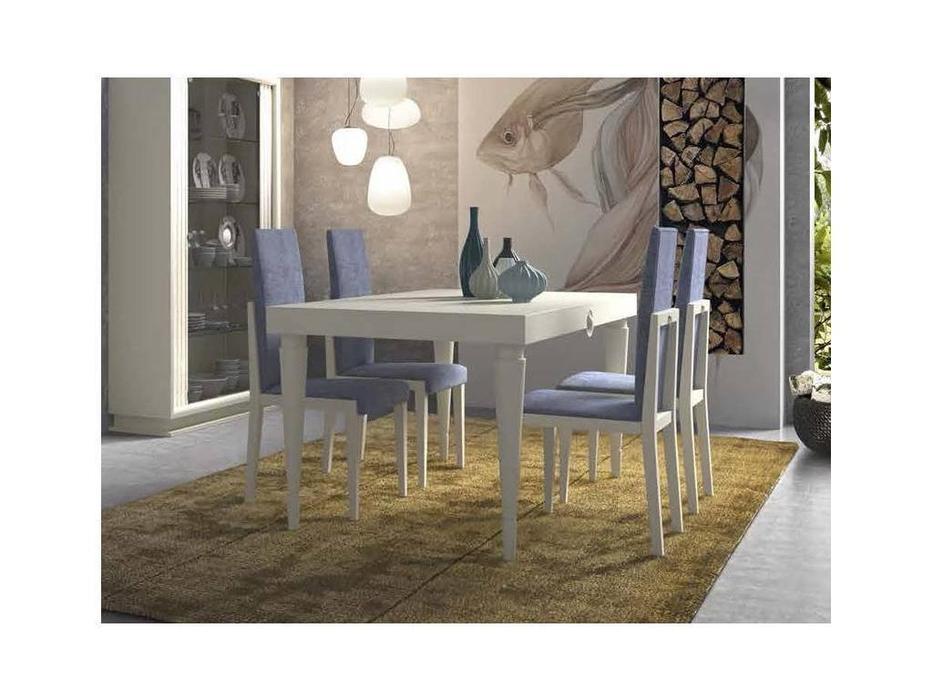 Monrabal Chirivella: Anabel: стол обеденный 130 см раскладной  (lacado lino)