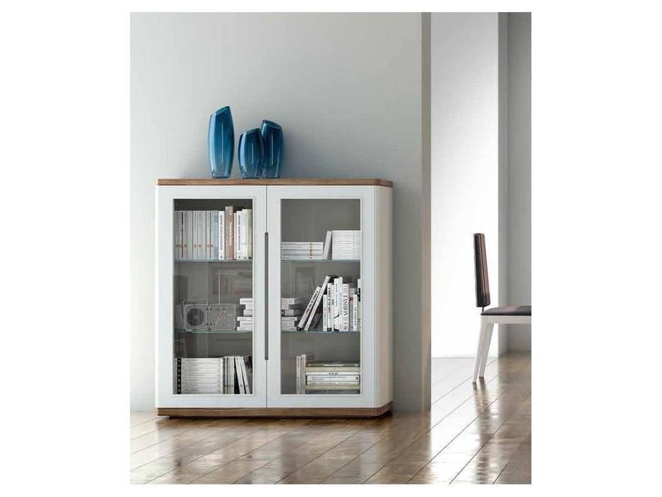 Monrabal Chirivella: Valentina: витрина низкая  (белый, дуб)