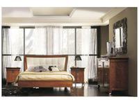 Francesco Pasi: New Deco: кровать 160х200 Деко с обитым изголовьем  кожа (Laccato bianco)