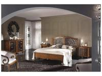 Francesco Pasi:  New Deco: кровать 160х200 Деко с резьбой  (Laccato bianco)