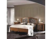 Francesco Pasi: New Deco: кровать 180х200 Деко с резьбой  (Laccato bianco)