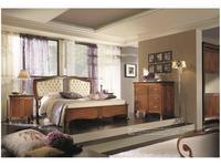 Francesco Pasi: New Deco: кровать 160х200 Деко с обитым изголовьем  кожа (вишня)