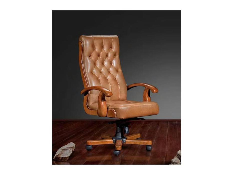 Inter: Боттичелли: кресло вращающееся  (олива, кожа)