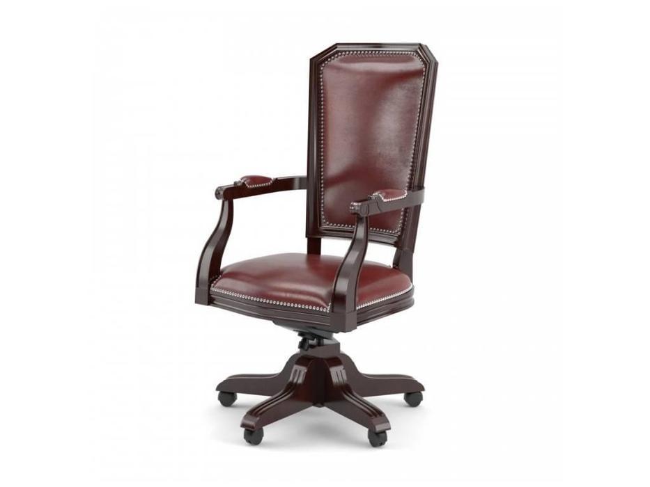 Inter: Велде: кресло вращающееся  (орех, экокожа)