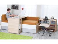 Vox: Evolve: стол письменный  подкатной (дуб, серый)