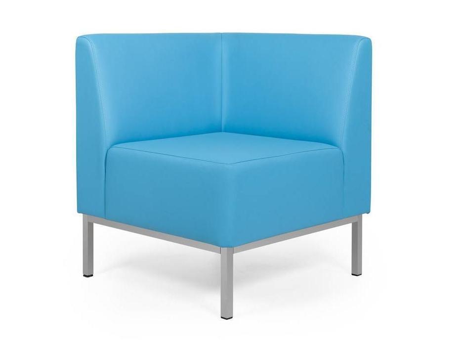 Евроформа: Компакт: кресло - угловая секция тк. Экокожа (синий)