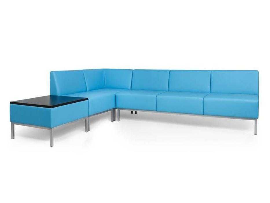 Евроформа: Компакт: комплект мягкой мебели №1 тк. Экокожа (синий)