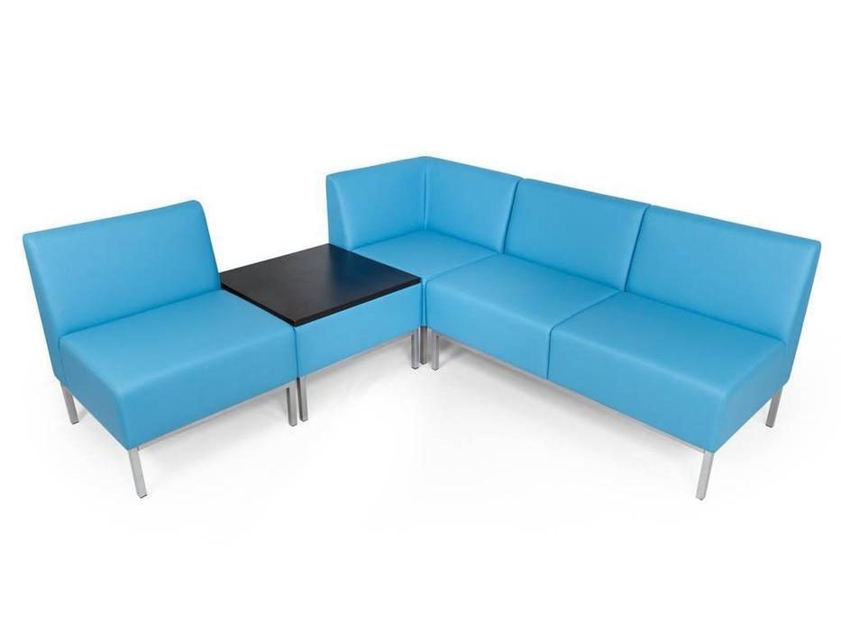 Евроформа: Компакт: комплект мягкой мебели №2 тк. Экокожа (синий)