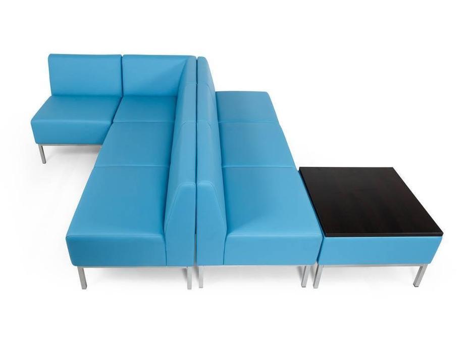 Евроформа: Компакт: комплект мягкой мебели №3 тк. Экокожа (синий)