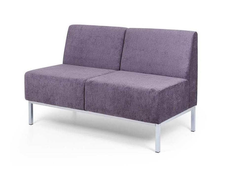 Евроформа: Компакт: диван - прямая 2 местн.секция тк. Velvet lux