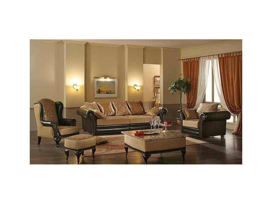Комдис: Турин: диван 3-х местный раскладной, кожа, ткань
