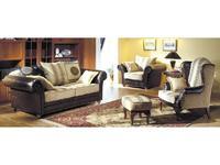 Комдис: Турин: диван 2-х местный раскладной, кожа, ткань