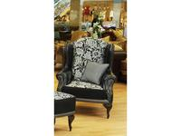 Комдис: Турин: кресло высокое, кожа, ткань