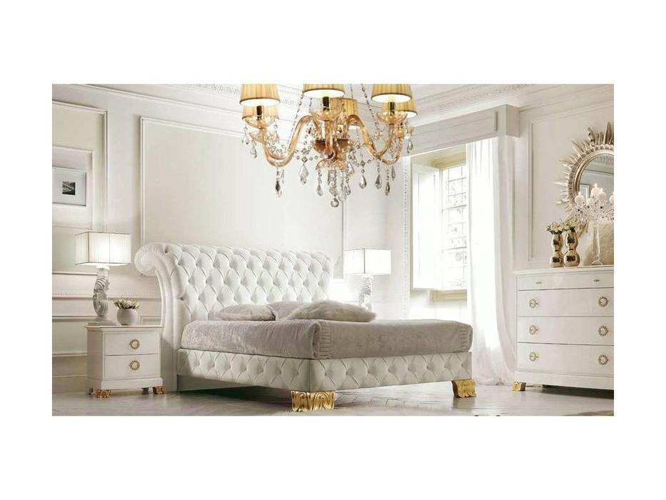 V. Villanova: Riva: кровать двуспальная  180х200 (белый, золото)