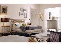 V. Villanova: Riva: кровать двуспальная 180х200  (белый, черешня)