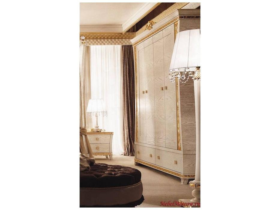 Gotha: Gold and Diamonds: шкаф 4-х дверный  дерево (белый, золото)