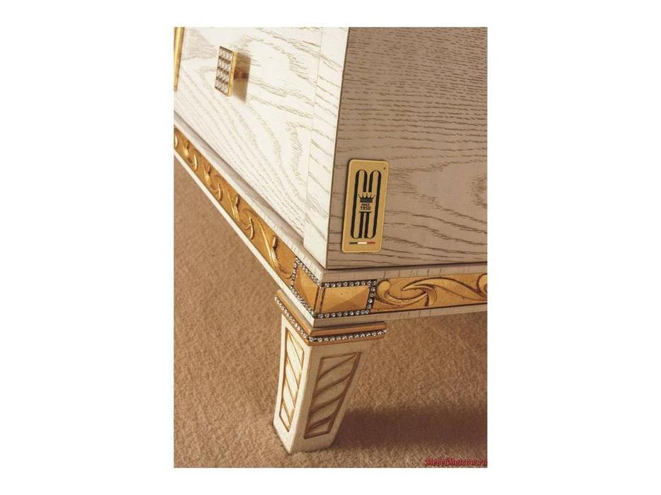 Gotha: Gold and Diamonds: комод 3 ящика  (белый, золото)