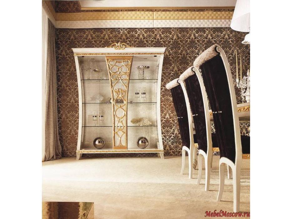 Gotha: Gold and Diamonds: витрина 2-х дверная  (белый, золото)