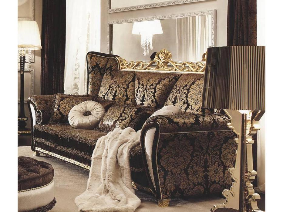Gotha: Gold and Diamonds: диван 3-х местный  ткань (фиолетовый, золото)