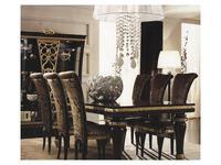 Gotha: Gold and Diamonds: стол обеденный раскладной  (венге, золото)