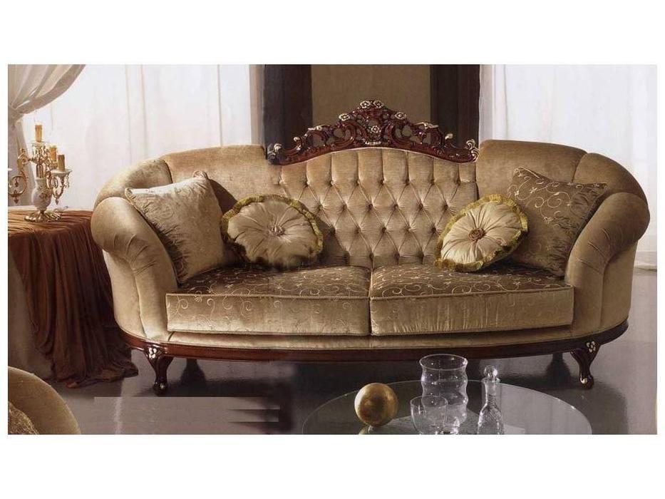 MobilPiu: Дукале: диван 3-х местный ткань кат. VIP (орех, бежевый)