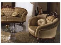 MobilPiu: Дукале: кресло ткань кат. VIP (орех, бежевый)